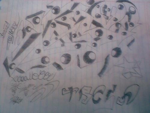 Graffitis sombreados , Imagui